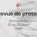Revue de presse du 23 au 29 mars