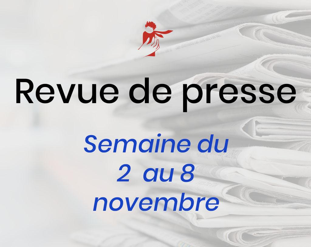 Revue de presse du 2 au 8 novembre