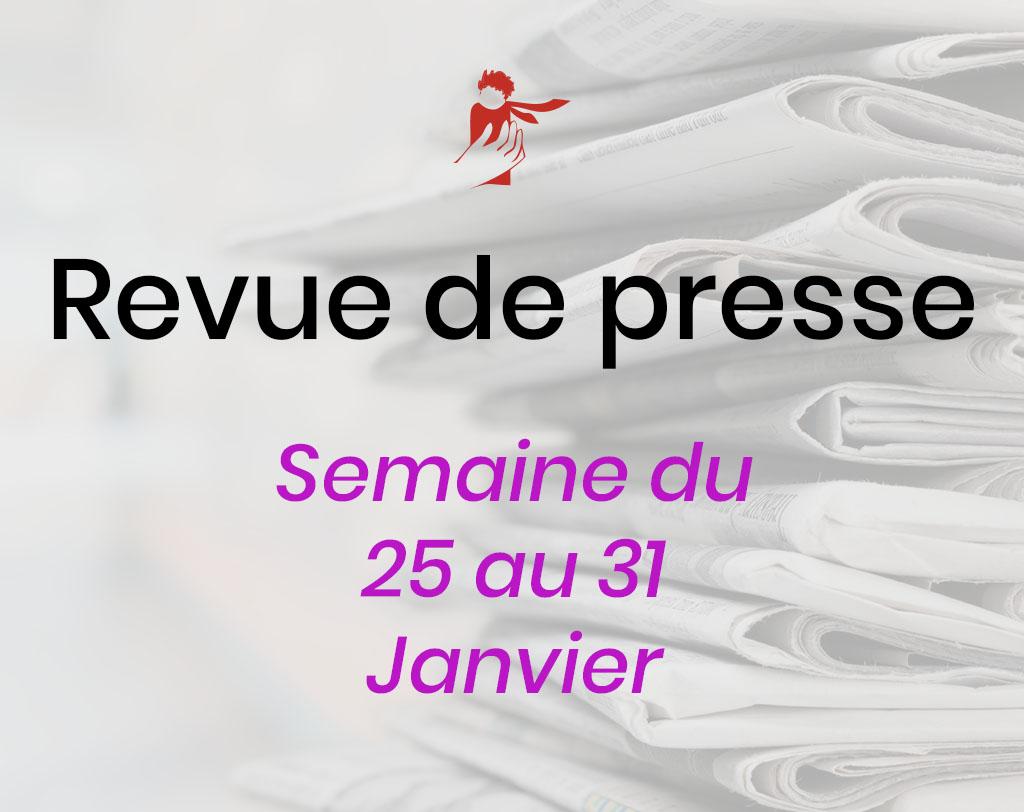 Revue de presse du 25 au 31 janvier 2021