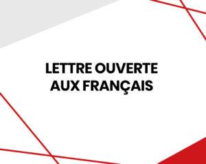 Lettre ouverte aux Français
